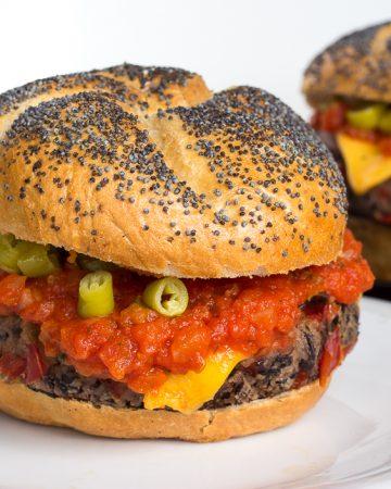 Hamburguesa vegana mexicana