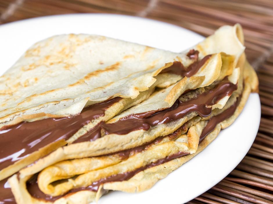 Crêpes Veganos Con Crema De Chocolate