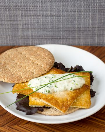 Sandwich de tofu braseado