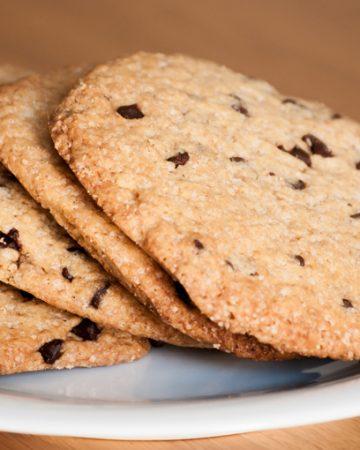 Cookies veganas con chips de chocolate