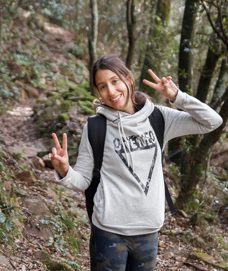 Cris en el Montseny