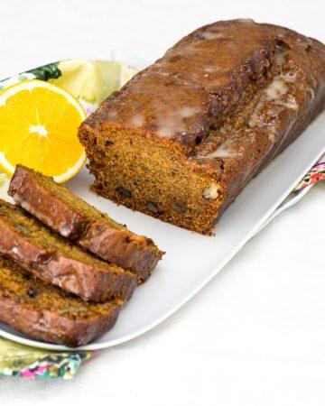 Plum cake vegana de naranja