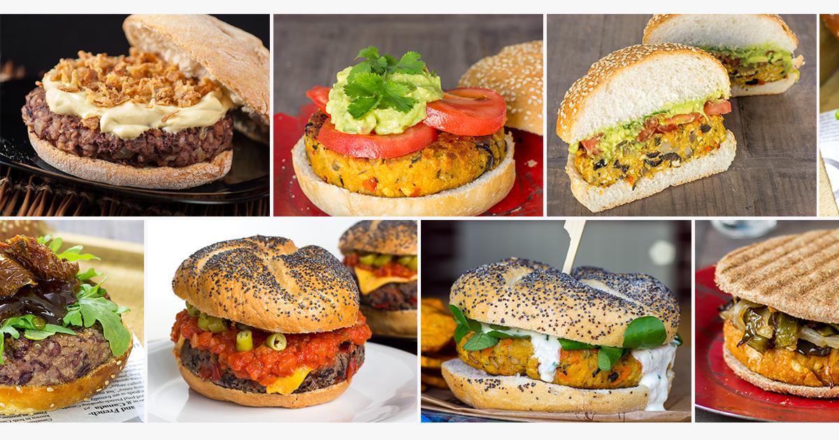 distintos tipos de hamburguesas vegetarianas