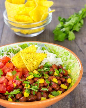 Burrito vegano en bol