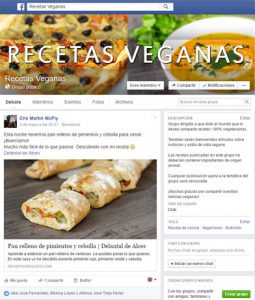 Grupo de Facebook de Recetas Veganas