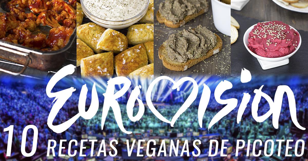 Recetas veganas de piocoteo para ver la final de Eurovisión