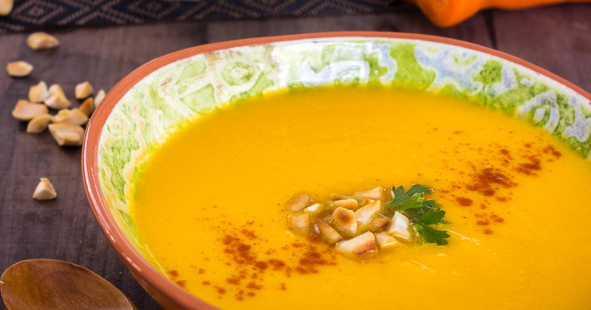 Crema fría de zanahoria y coco | Delantal de Alces