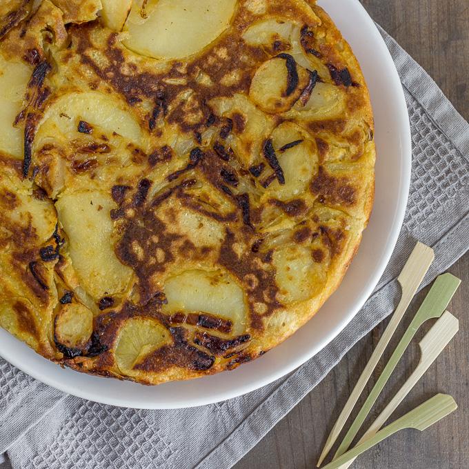 Tortilla de patatas vegana (sin huevo)