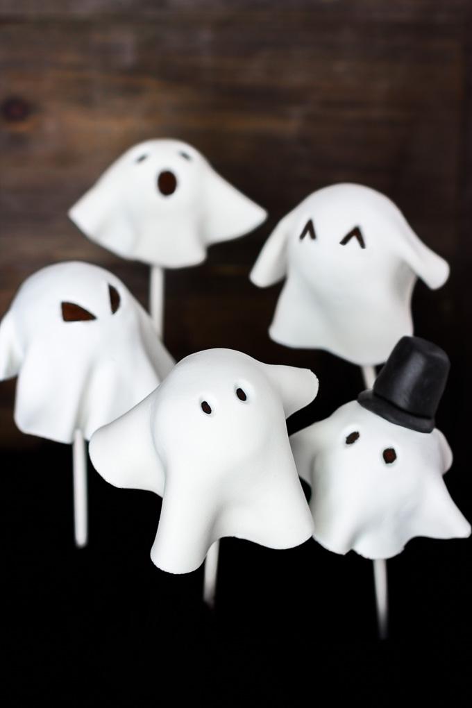 Cake Pops de Fantasmitas para Halloween (veganos)