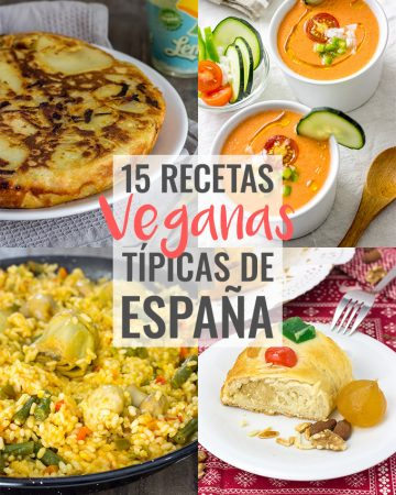 15 recetas veganas típicas de España