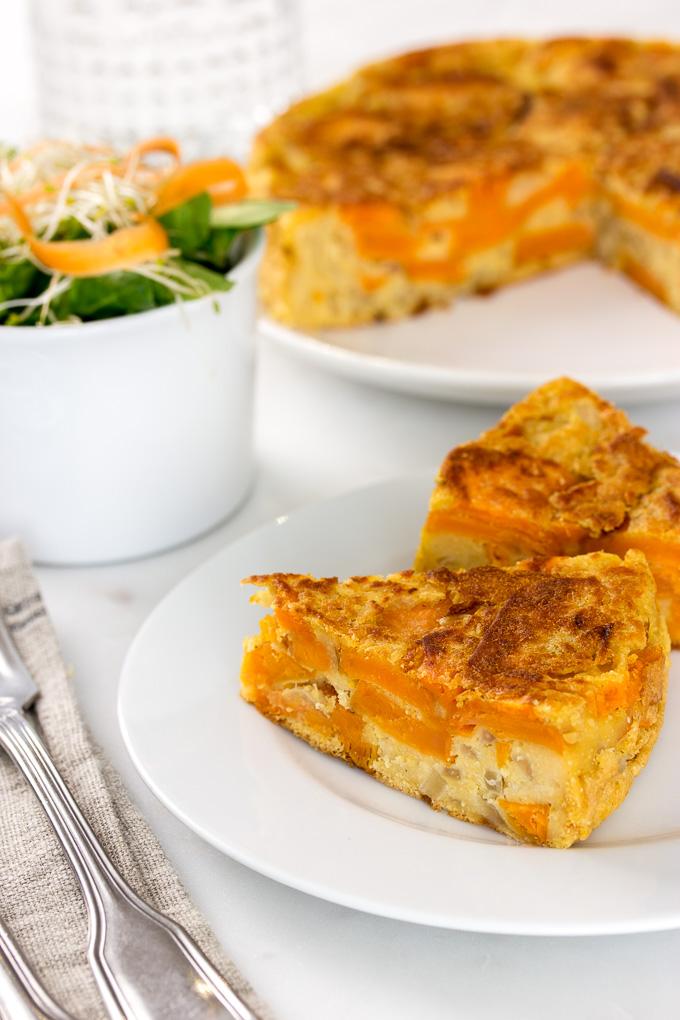 Tortilla de boniato vegana (sin huevo)